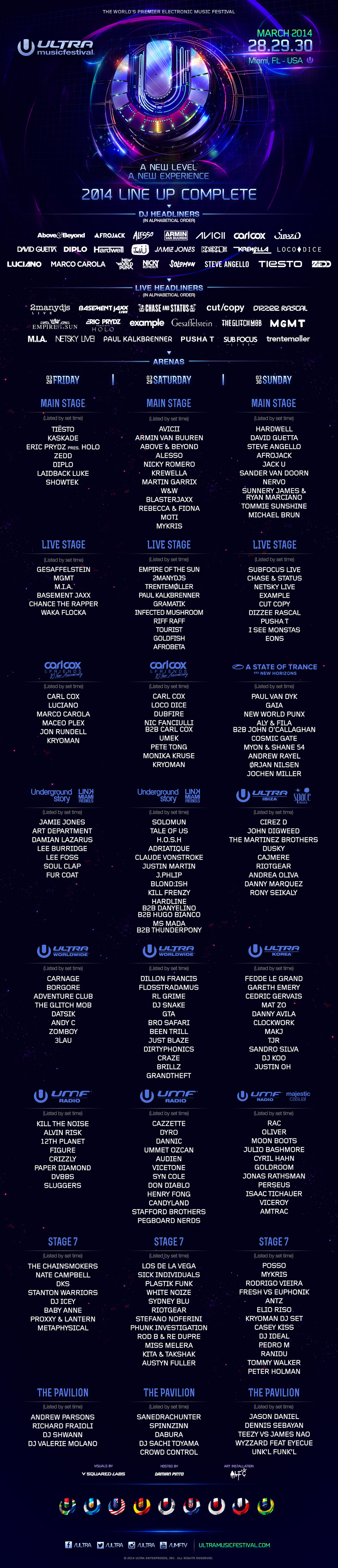 ultra full line up